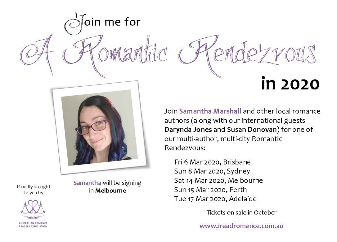 Romance Author Signing Events 2020.Arr 2020 The Adventure Begins Samantha Marshall